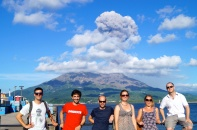 Happy volcanologists.