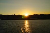 Sunset over Kagoshima.