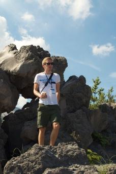 Walking around Sakurajima.