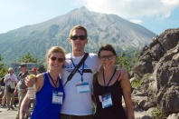 More happy volcanologists.