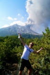 Enjoying the sun and eruptions at Sakurajima in 2013.