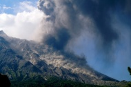 Pyroclastic flows.