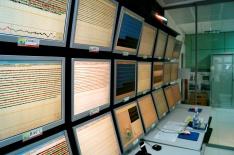 INGV Naples volcano monitoring room (2014).