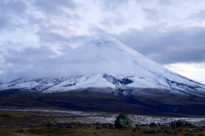 Cotopaxi through the evening clouds (2014).
