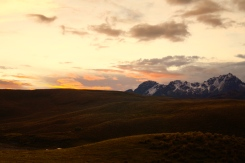 Sunset across Cotopaxi National Park (2014).