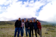 The STREVA team in front of Cotopaxi (2016).