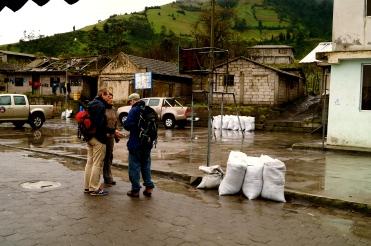 Collecting ash around Tungurahua (2016).