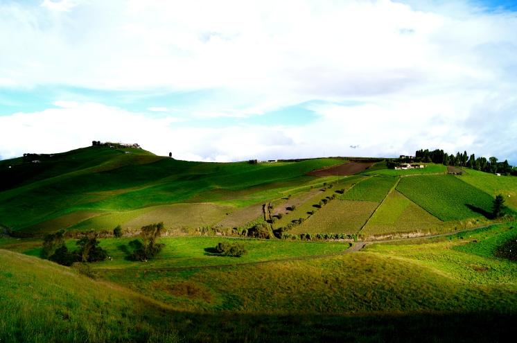 Farming on the slopes of Tungurahua (2016).
