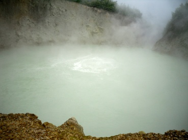 The boiling lake.