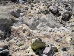 Fumarolic activity near the summit.