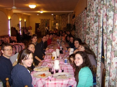 Enjoying the Neapolitan cuisine (2008).