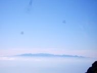 Up above the clouds.