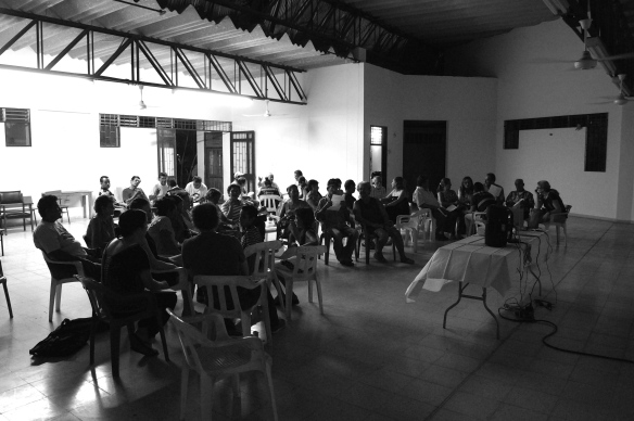 Community workshop in Guayabal, Colombia.