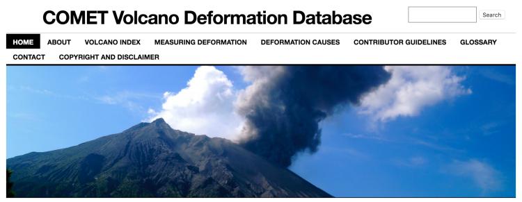 Volcano Deformation Database