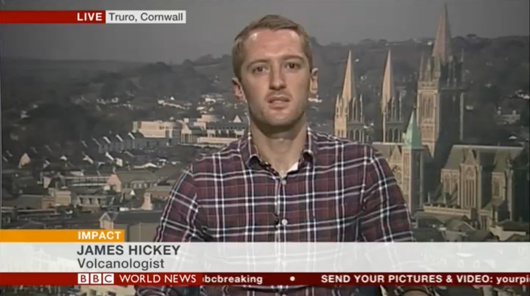 A screenshot from my live TV interview.