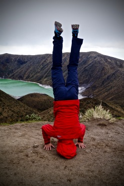 A little volcano yoga.