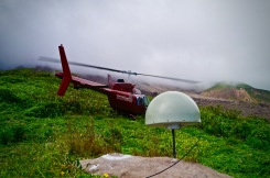 GPS receiver and helicopter.